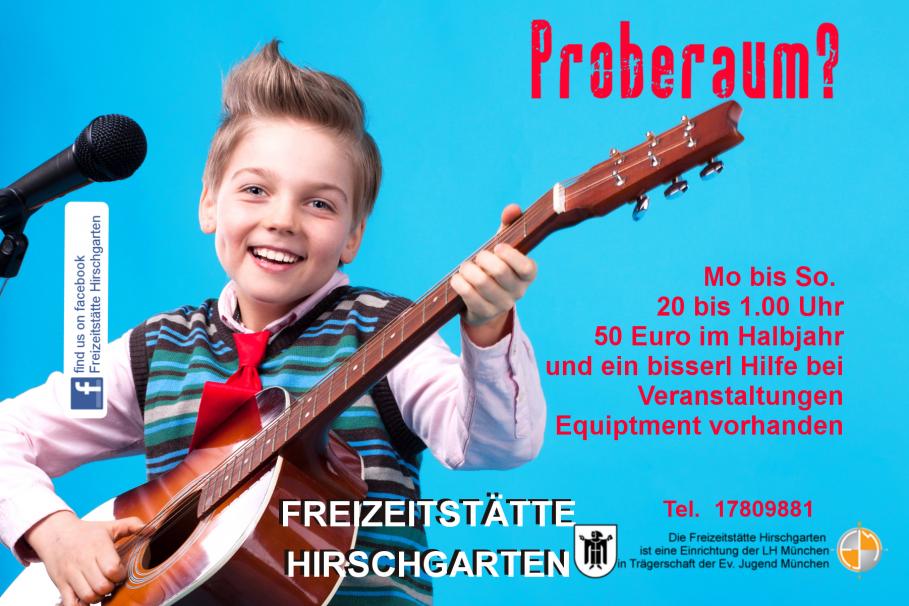 Band Hirschgarten proben